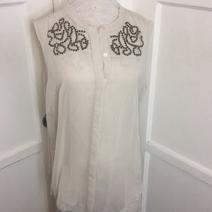Worthington sheer blouse with sequence XL